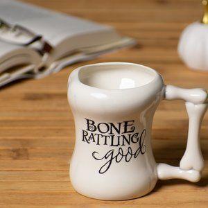 "Hallmark Kitchen - Hallmark ""Bone Rattling Good"" White Mug"